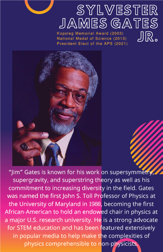Sylvester Gates is known for his work on supersymmetry, supergravity, and superstring theory as well as his commitment to increasing diversity in the field.