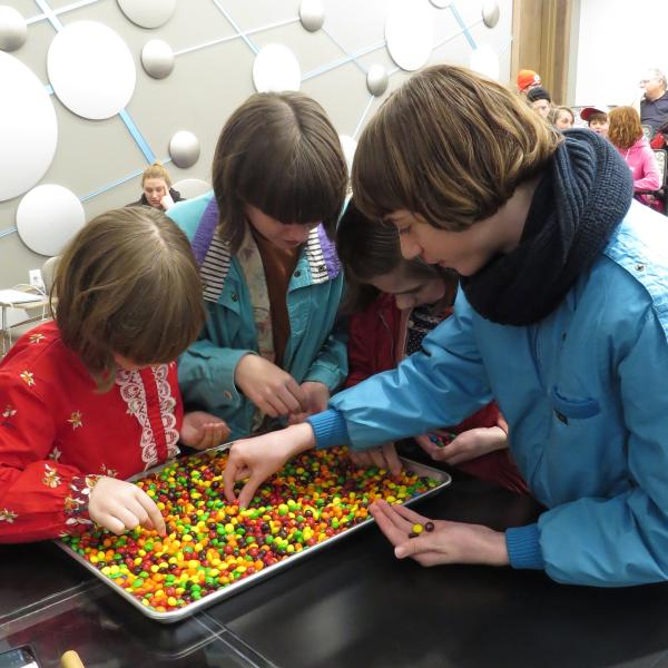 Student participants implement an M&M model of biological evolution