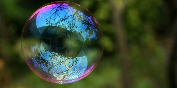 soap bubble floating