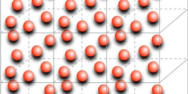 One way to simulate infinite neutron matter is to put a number of neutrons in a box, surround that box with identical boxes, then sum up the forces among all the particles. Image courtesy of Alessandro Lovato